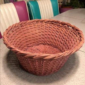 Pink Wicker Basket
